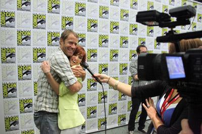 Колин Фергесон и Эллисон Скальотти на Comic-Con 2010