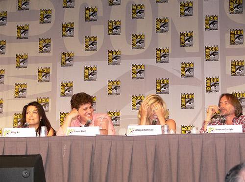 Минг-На, Дэвид Блу, Алэйна Хаффман, Роберт Карлайл на Comic-Con 2010