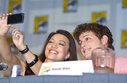 Минг-На и Дэвид Блу из Звездных Врат Вселенная на Comic-Con 2010