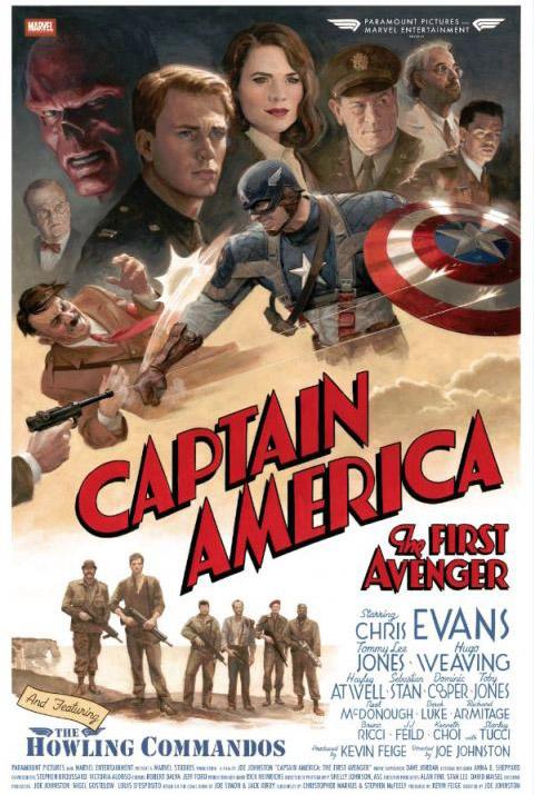 Капитан Америка: Первый Мститель ретропостер