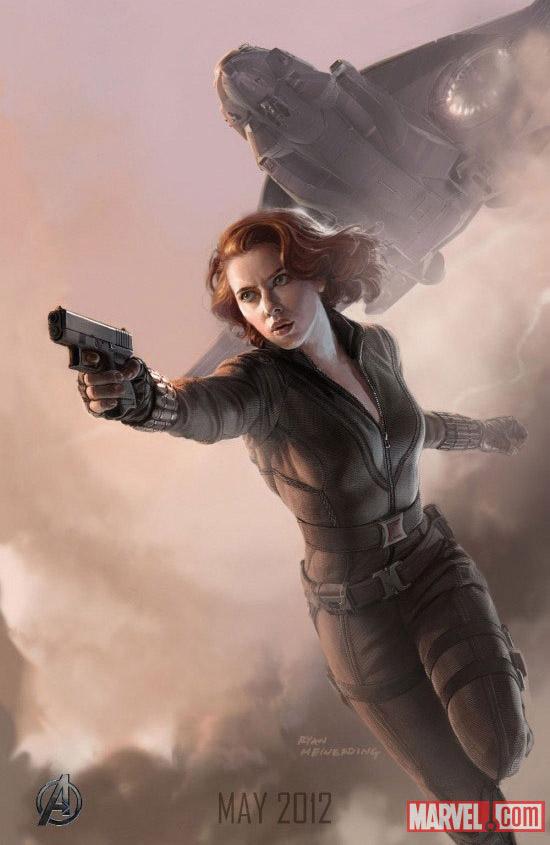 Постер к Мстителям - Черная Вдова