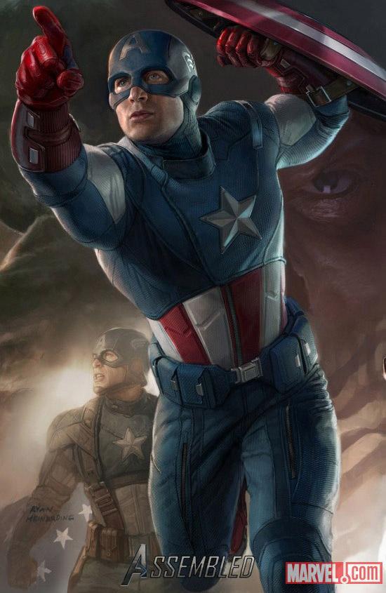 Постер к Мстителям - Капитан Америка