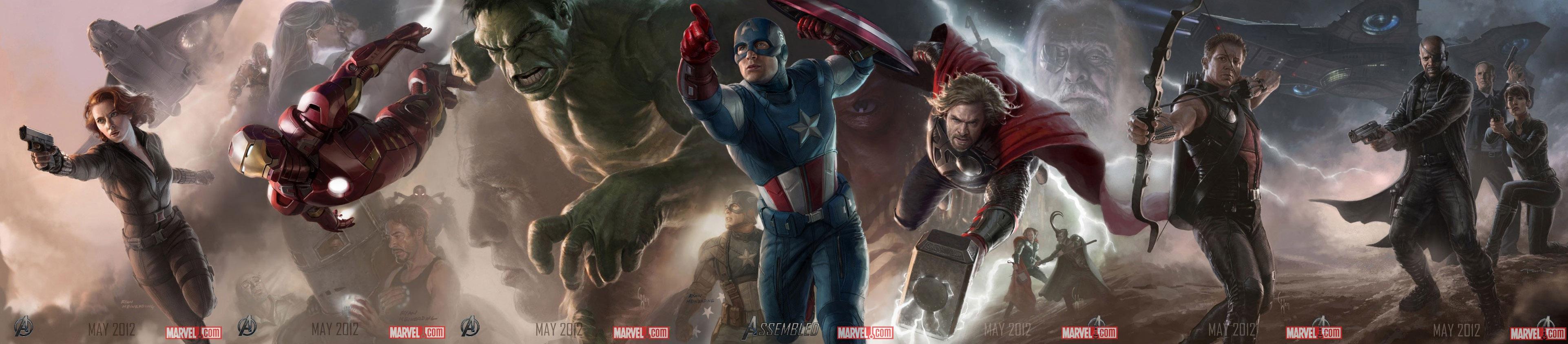 Постер к Мстителям - вся команда