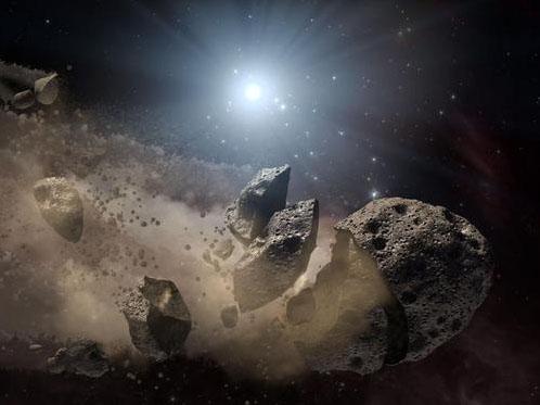 Астероиды в космосе