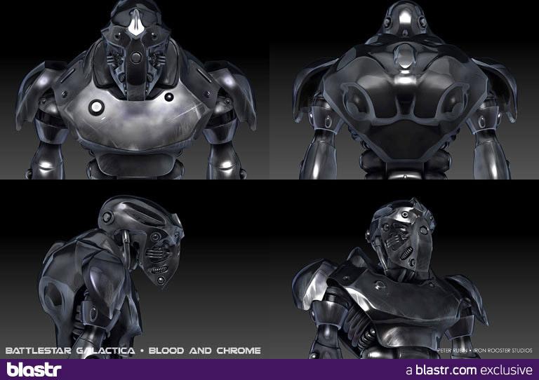 Battlestar Galactica: Blood & Chrome концепт-арт