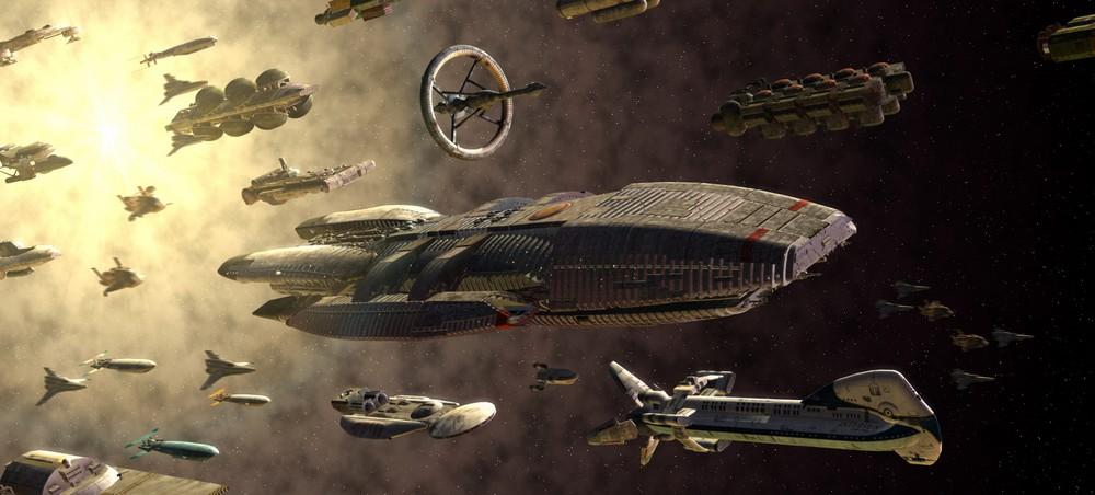 Кадр из сериала Звездный Крейсер Галактика