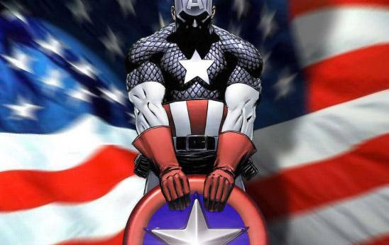 Капитан Америка и флаг