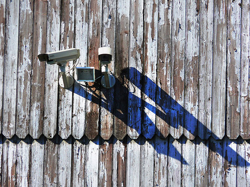 Тень от камеры наблюдения