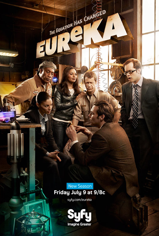 Постер к 4 сезону Эврики