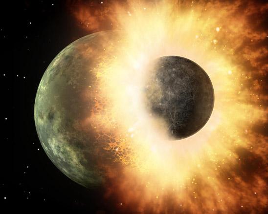Столкновение двух планет
