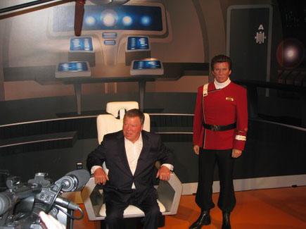 Уильям Шатнер в кресле адмирала Кирка