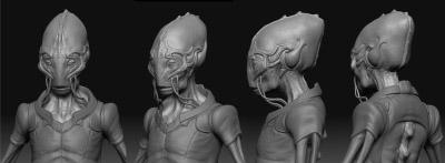 Компьютерный 3D макет инопланетян