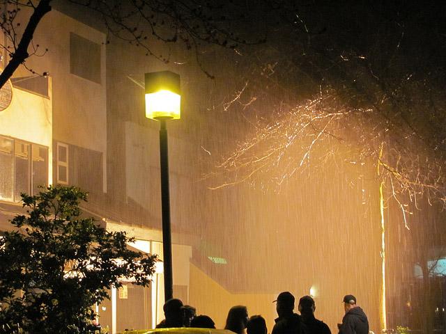 Съемки пилота 17th Precinct - ненастоящий дождь