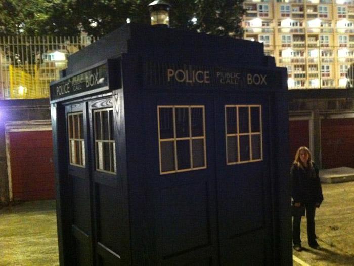 Съемки ТАРДИС в Бристоле
