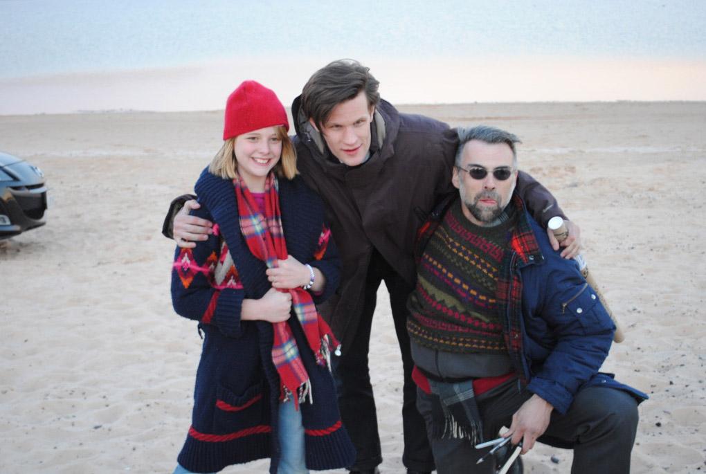 Фотография со съемок Доктора Кто в Америке