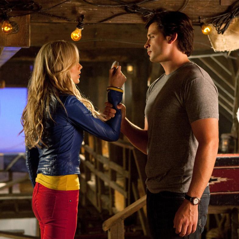 Кара и Кларк в 3 серии 10 сезона Смолвиля